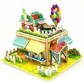 3d paper Jigsaw puzzle Ice Cream House Small