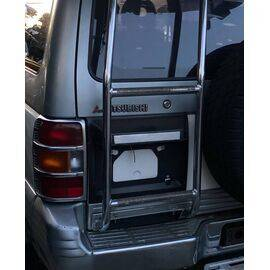 Stainless Steel Tailgate Ladder for Mitsubishi Pajero Gen 2