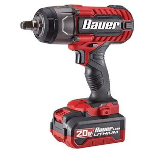 Bauer 20-Volt Hypermax Lithium-Ion 1/2 Inch Impact Wrench with LED Light