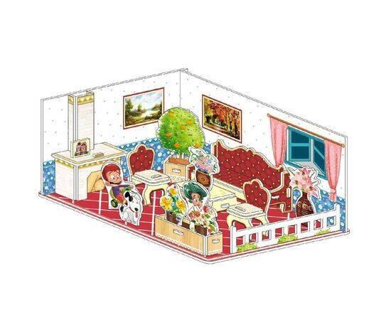 34 pcs Cardboard 3d puzzle room